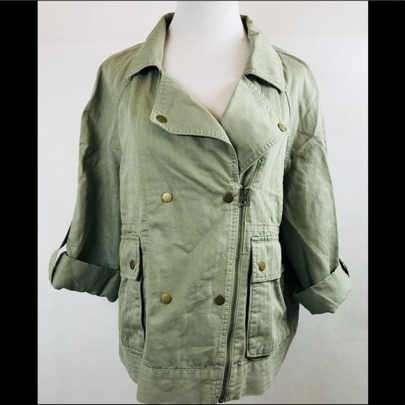 c94086ff37021 LOFT Jackets & Coats | Ann Taylor Military Utility Anorak Zip Jacket ...